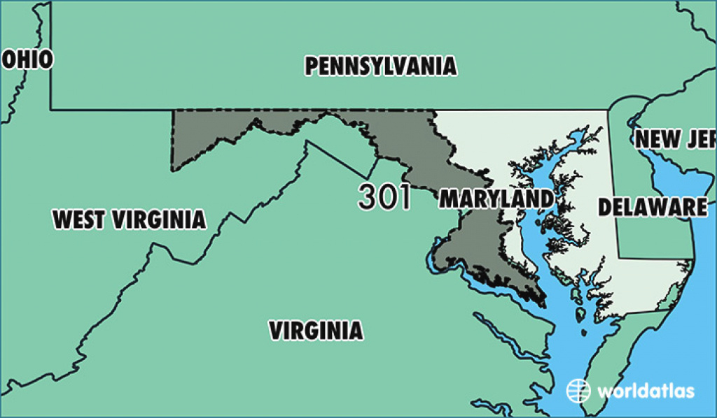 Where Is Area Code 301 / Map Of Area Code 301 / Silver Spring, Md for Map Of Maryland And Surrounding States
