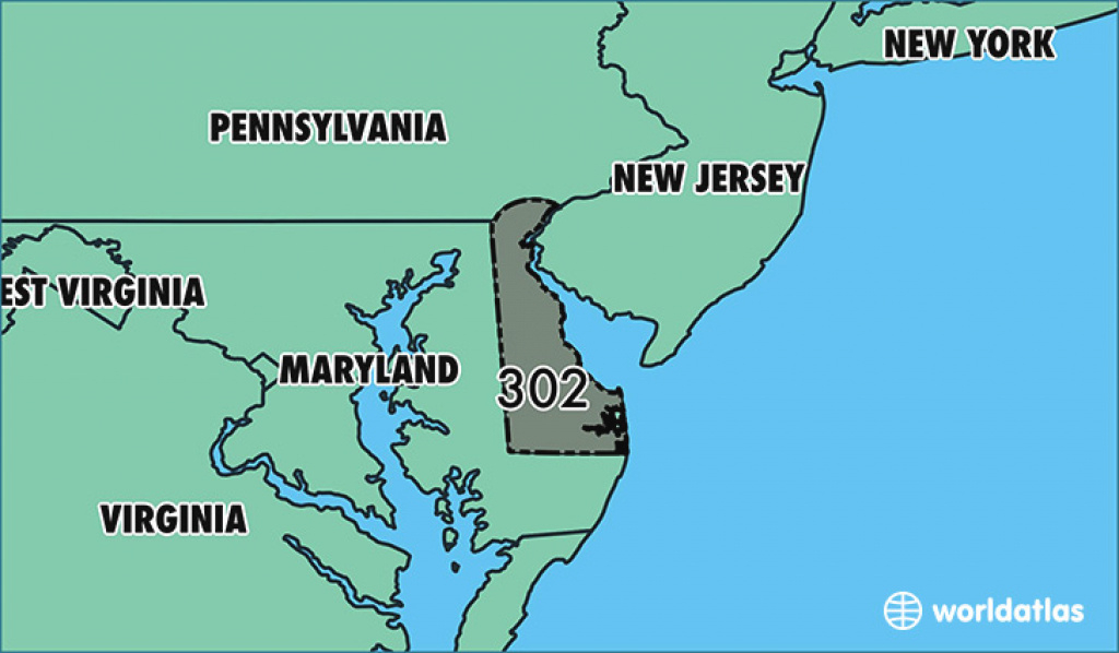 Where Is Area Code 302 / Map Of Area Code 302 / Wilmington, De Area Code for Map Of Delaware And Surrounding States