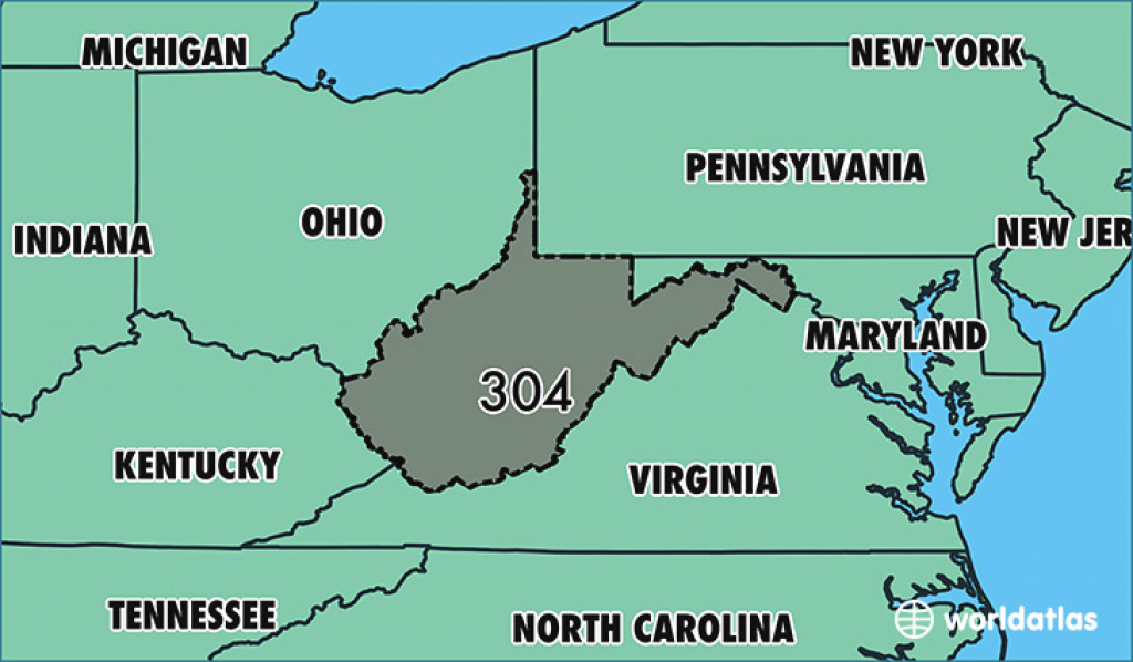 Where Is Area Code 304 / Map Of Area Code 304 / Charleston, Wv Area Code in Map Of Virginia And Surrounding States