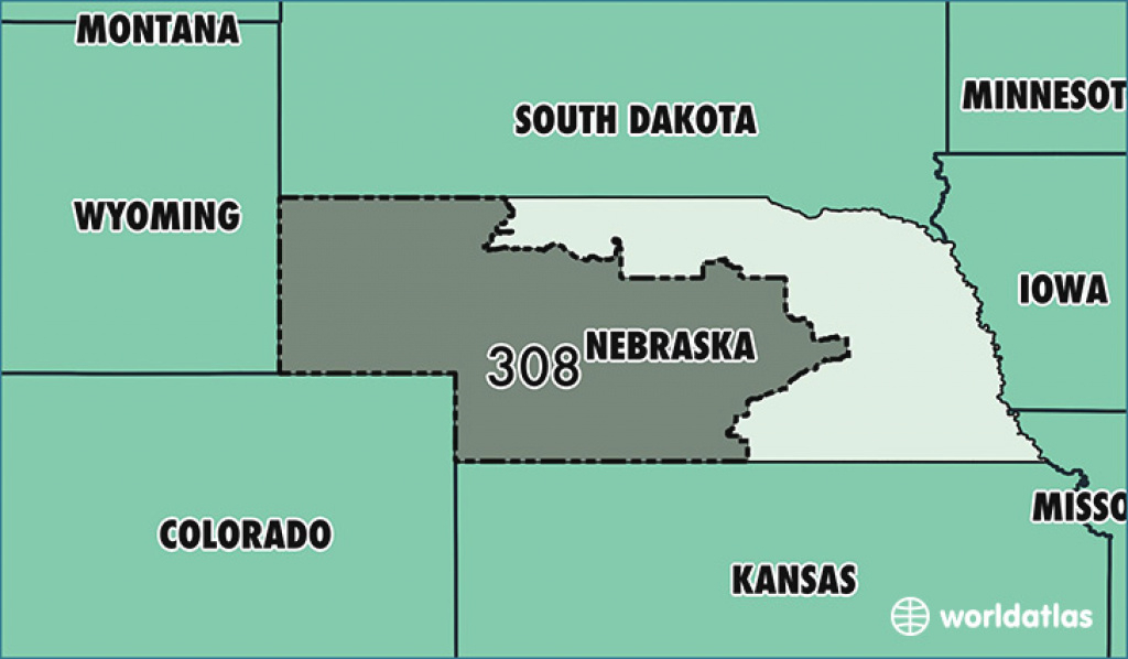 Where Is Area Code 308 / Map Of Area Code 308 / Grand Island, Ne for Map Of Nebraska And Surrounding States