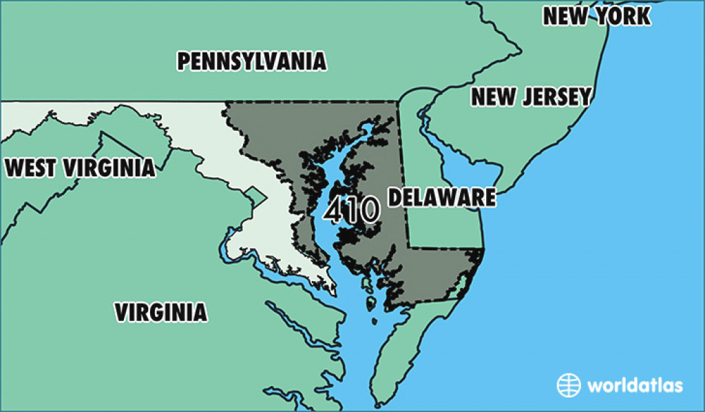 Where Is Area Code 410 / Map Of Area Code 410 / Baltimore, Md Area Code throughout Map Of Maryland And Surrounding States