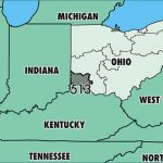 Where Is Area Code 513 / Map Of Area Code 513 / Cincinnati, Oh Area Code Inside Map Of Ohio And Surrounding States