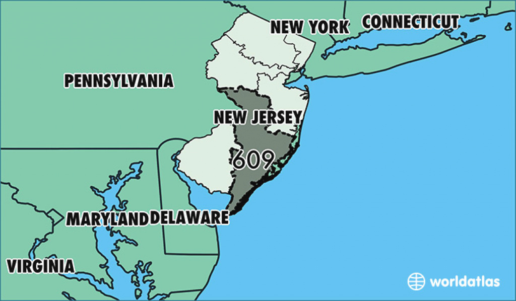 Where Is Area Code 609 / Map Of Area Code 609 / Trenton, Nj Area Code intended for Map Of New Jersey And Surrounding States