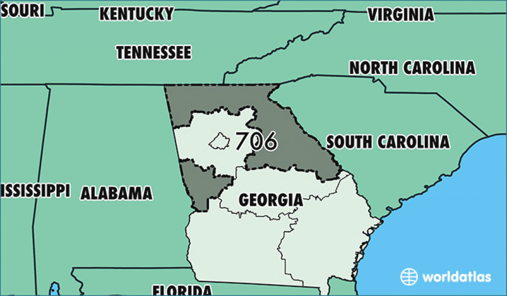 Where Is Area Code 706 / Map Of Area Code 706 / Columbus, Ga Area Code throughout Map Of Georgia And Surrounding States
