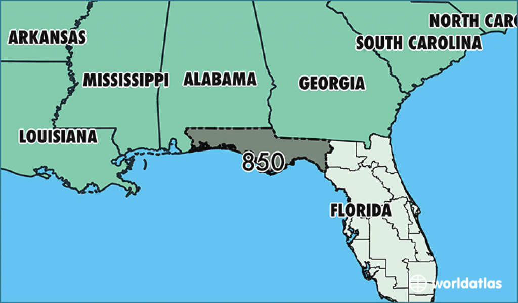 Where Is Area Code 850 / Map Of Area Code 850 / Tallahassee, Fl Area for Map Of Georgia And Surrounding States