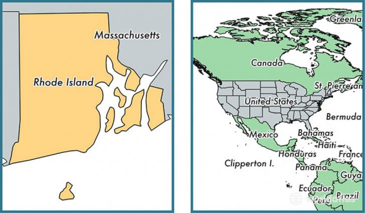 Map Of Rhode Island And Surrounding States