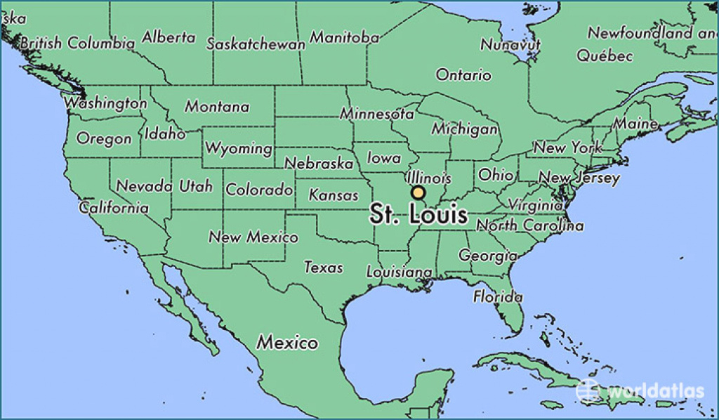 Where Is St. Louis, Mo? / St. Louis, Missouri Map - Worldatlas within State Reference Map Missouri