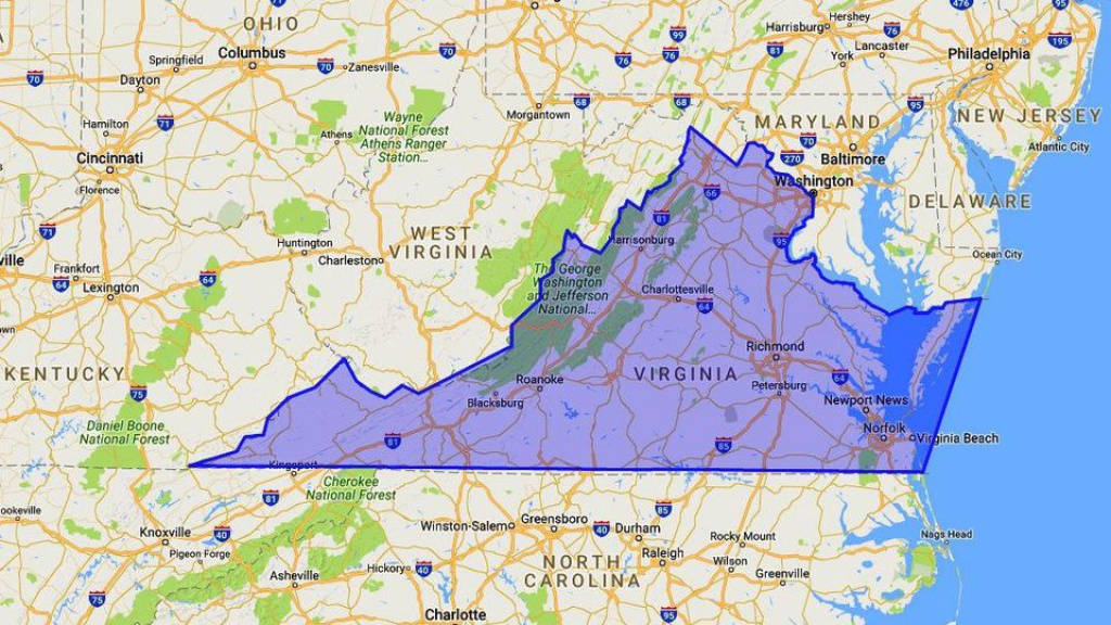 Where Is Virginia? Map, Location And Geography for Map Of Virginia And Surrounding States