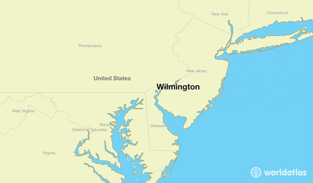 Where Is Wilmington, De? / Wilmington, Delaware Map - Worldatlas regarding Map Of Delaware And Surrounding States
