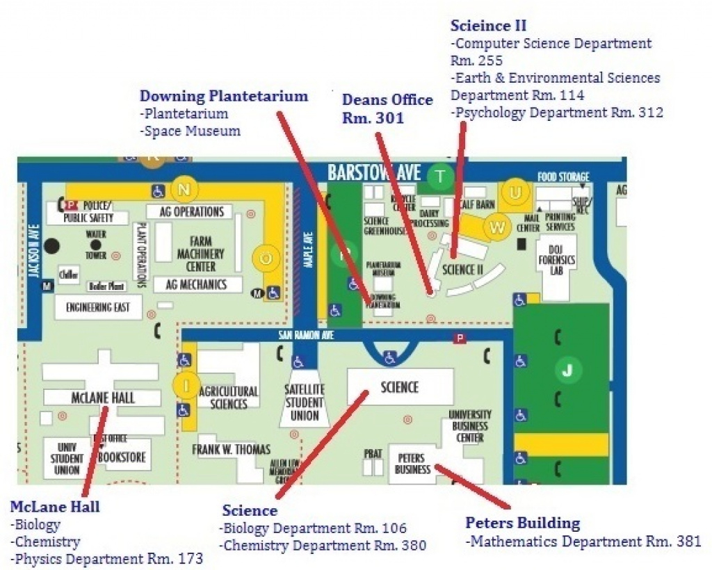 Where We Are On Campus with regard to Fresno State Map Pdf