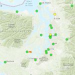 Where's The Fire? If You Smelled Smoke In Seattle, Tacoma, It's From Within Map Of The Washington State Fires