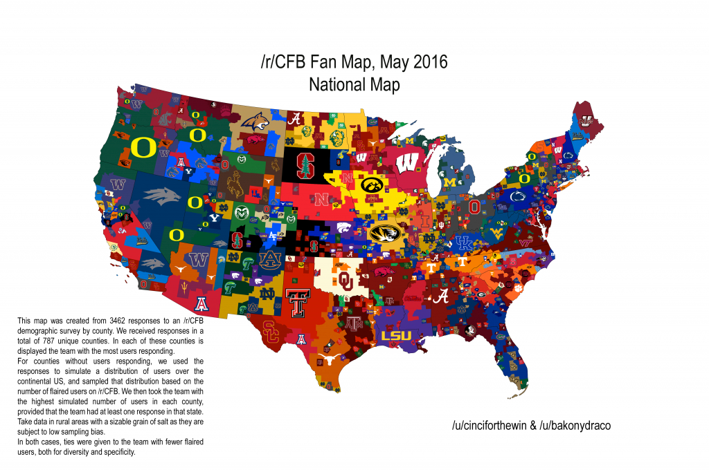 Which College Football Team Owns Central Florida? regarding Florida State Colleges Map