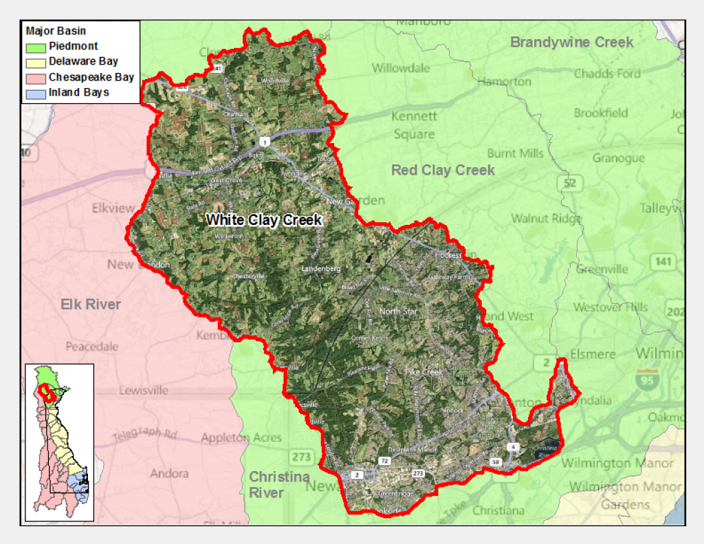 White Clay Creek   Delaware Watersheds throughout White Clay Creek State Park Trail Map