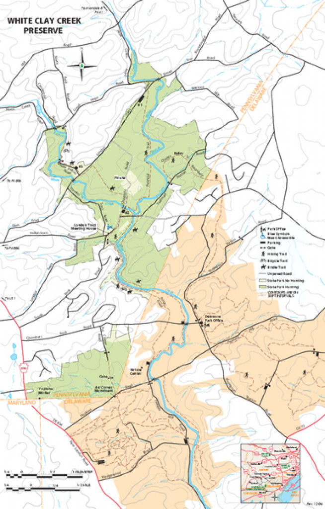 White Clay Creek Preserve Map - Landenberg Pa 19350-0172 • Mappery inside White Clay Creek State Park Trail Map
