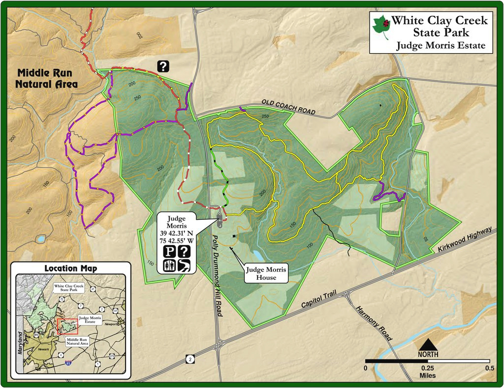 White Clay Creek State Park - Maplets pertaining to White Clay Creek State Park Trail Map