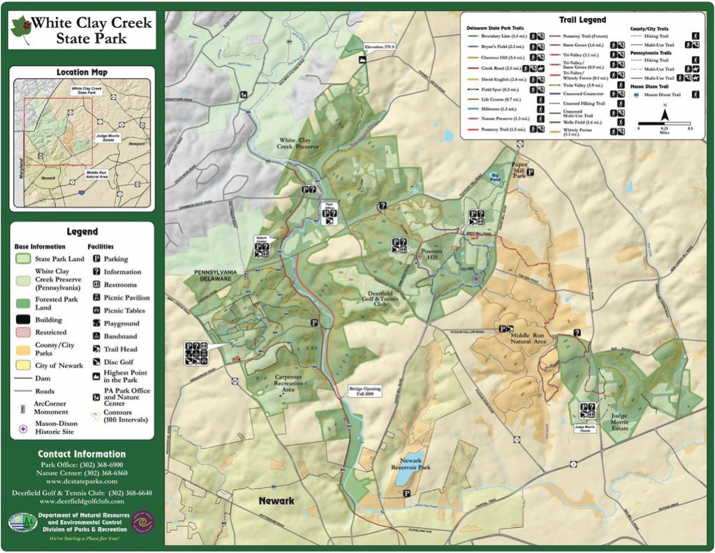 White Clay Creek State Park - Maplets regarding White Clay Creek State Park Trail Map