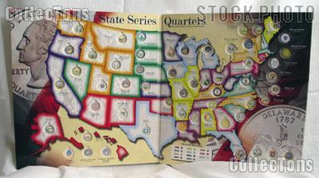 Whitman State Series, D.c. & Territory Quarter Map - $8.99 with regard to State Series Quarters Collector Map