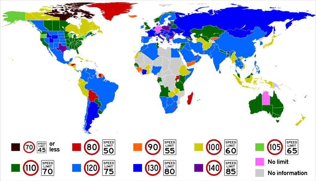 Who Are The World's Speed Demons? The Highest Speed Limits Around throughout Interstate Speed Limits By State Map