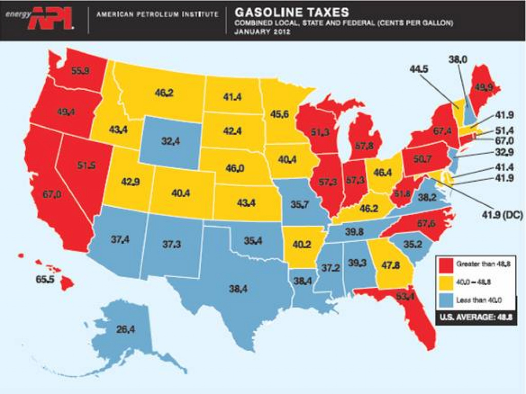 Why Do Gasoline Prices Differ Across U.s. States? | Econbrowser inside Gas Prices Per State Map