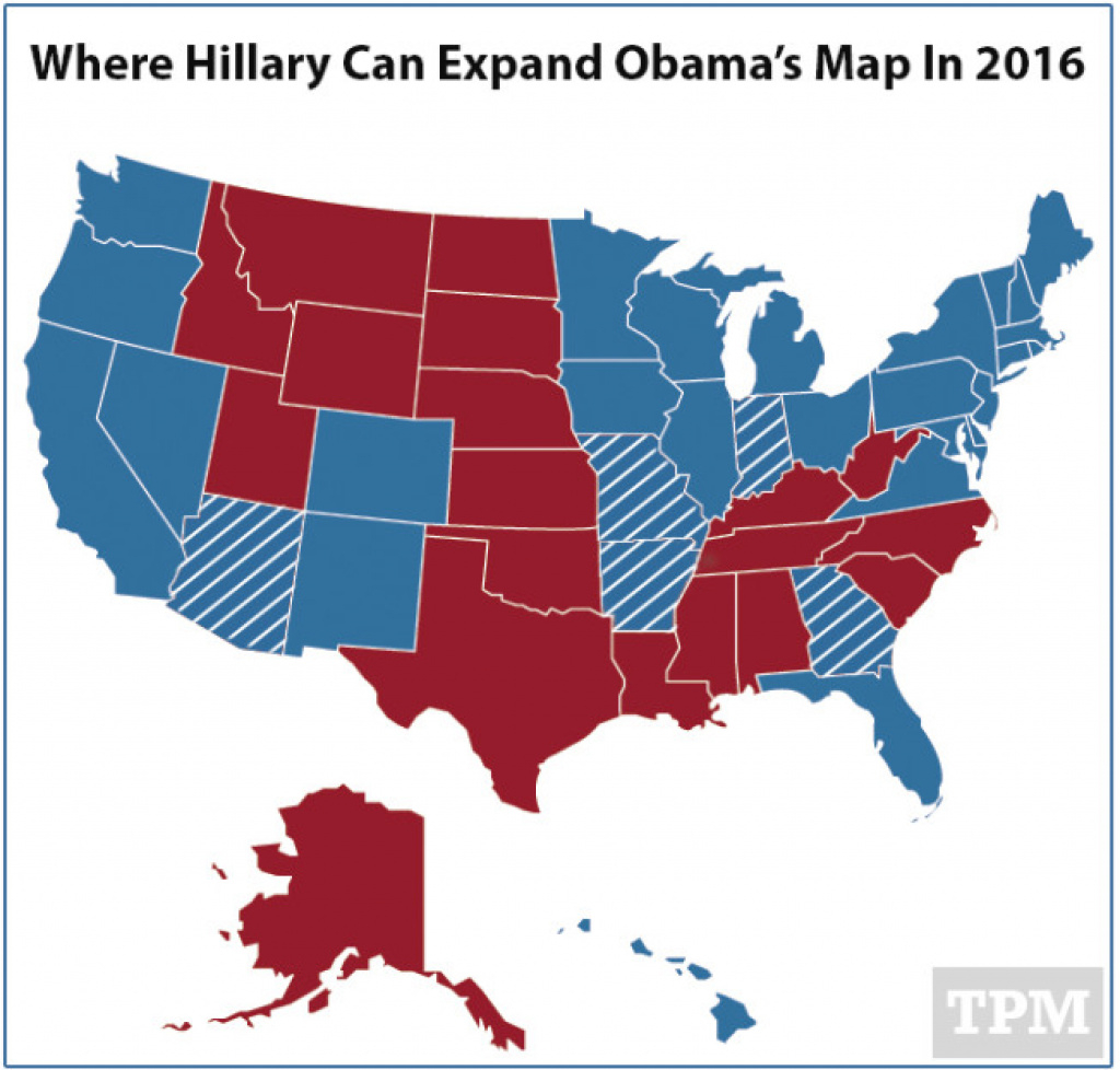 Why Hillary 2016 Thinks She Can Expand Obama's Electoral Map with regard to States Hillary Won Map
