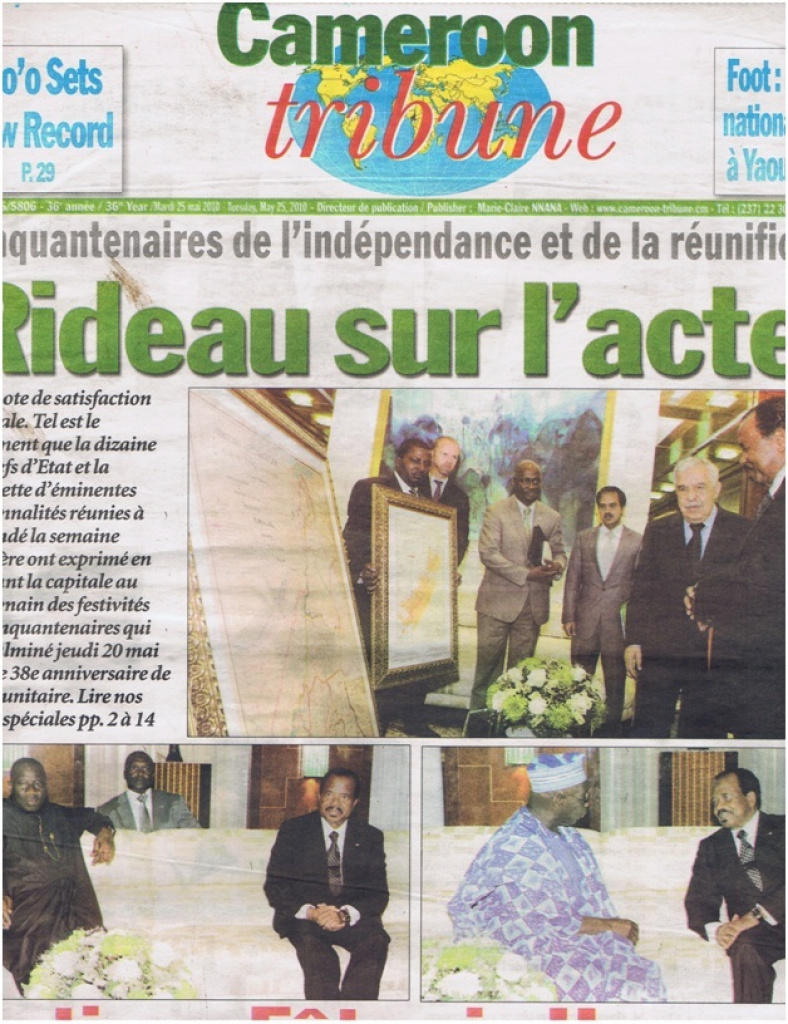 Why The Un Gave The President Of Cameroun Two Maps On May 20, 2010 within Uno State Of Cameroon Map