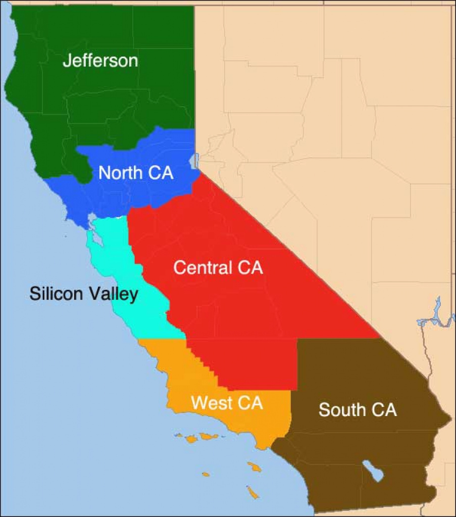 Why Tim Draper's 'six Californias' Idea Won't Fly | Kcet for Splitting California Into Two States Map
