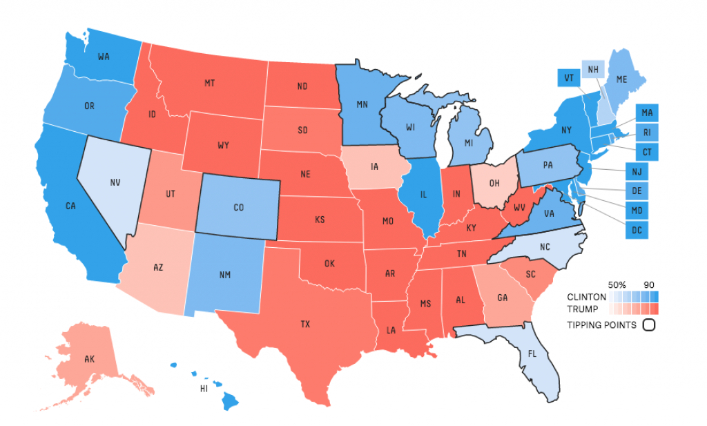Why We Departed From A Traditional Map — Us Elections 2016 intended for What States I Ve Been To Map