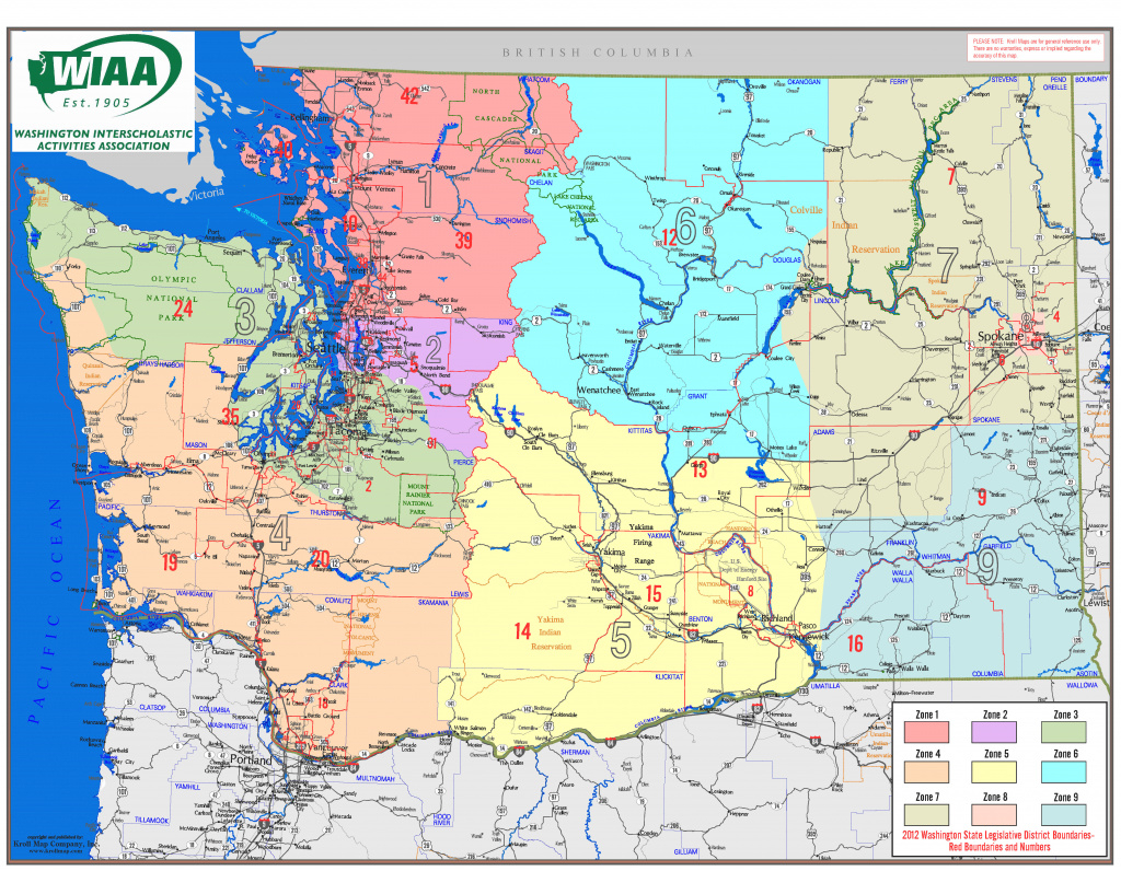 Wiaa | Washington Interscholastic Activities Association for Wa State Congressional Districts Map 2014