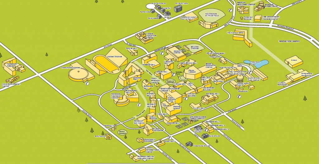 Wichita State University Campus Map | Rtlbreakfastclub in Wichita State University Campus Map Pdf