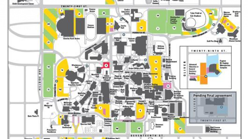 Wichita State Upping Parking Permit Requirements For Its Main Campus intended for Wichita State Parking Map