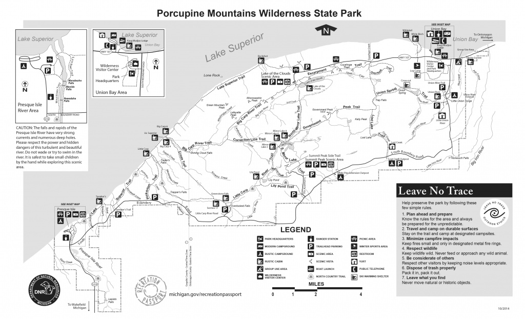 Wilderness State Park Porcupine Mountains Map | Porkies | Pinterest throughout Map Of Porcupine Mountains State Park