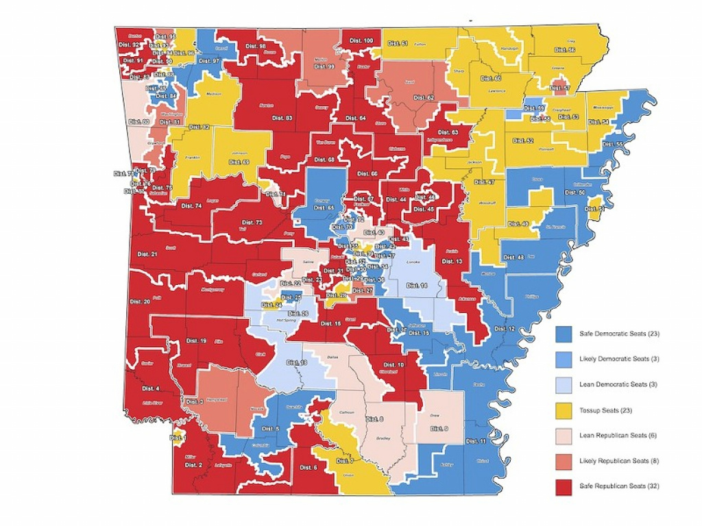 Will Arkansas Join The Red State Revolt? | Billy Fleming | Arkansas with Arkansas State Senate Map
