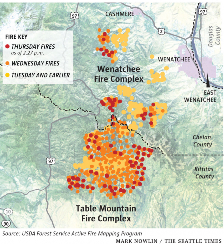 Will Central Wa Wild Fires Cause Problems For Air Cooled Data pertaining to Wa State Fire Map