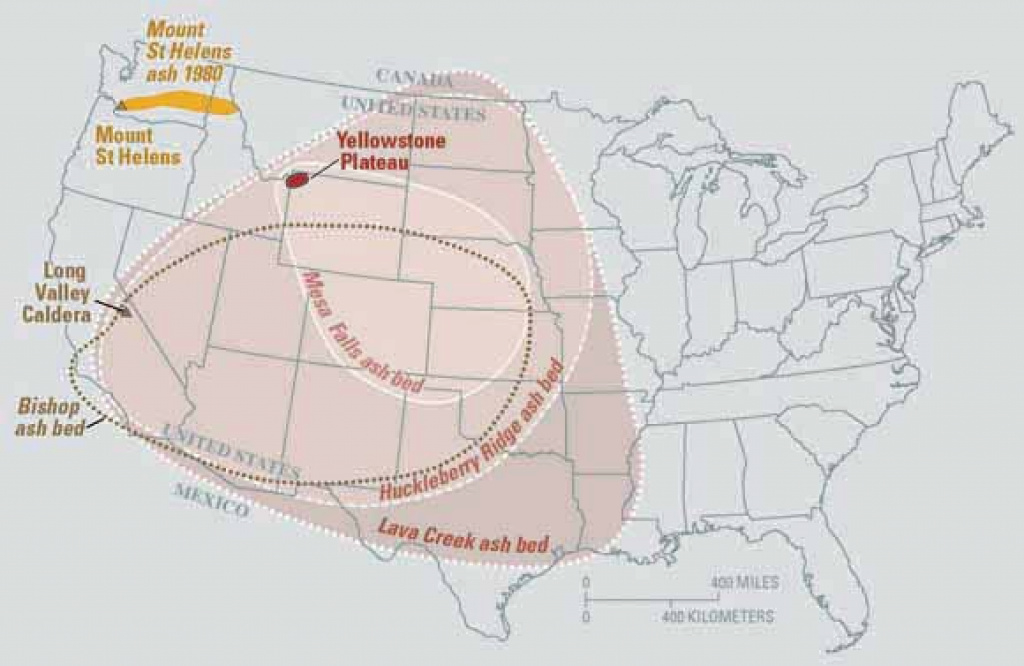 Will The Yellowstone Volcano Erupt In Our Lifetime? (+Map) in If Yellowstone Erupts Which States Would Be Affected Map