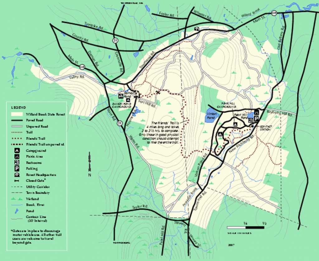 Willard Brook State Forest Trail Map - Ashby Ma • Mappery in Townsend State Forest Trail Map