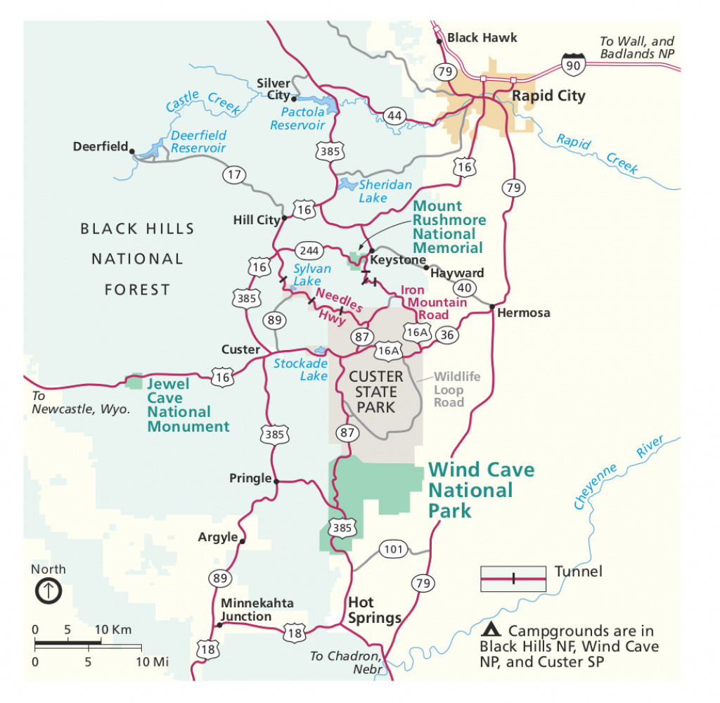 Wind Cave Maps | Npmaps - Just Free Maps, Period. with Custer State Park Map