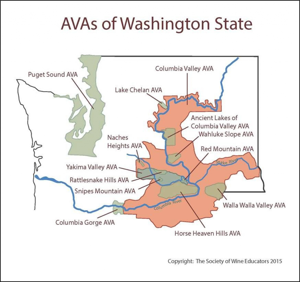 Wine Regions Of Washington State #wine #wineeducation | Wine within Washington State Wineries Map