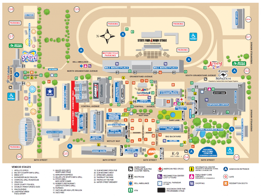 Wisconsin State Fair Map | Wisconsin State Fair | Pinterest regarding Iowa State Fair Parade Route Map
