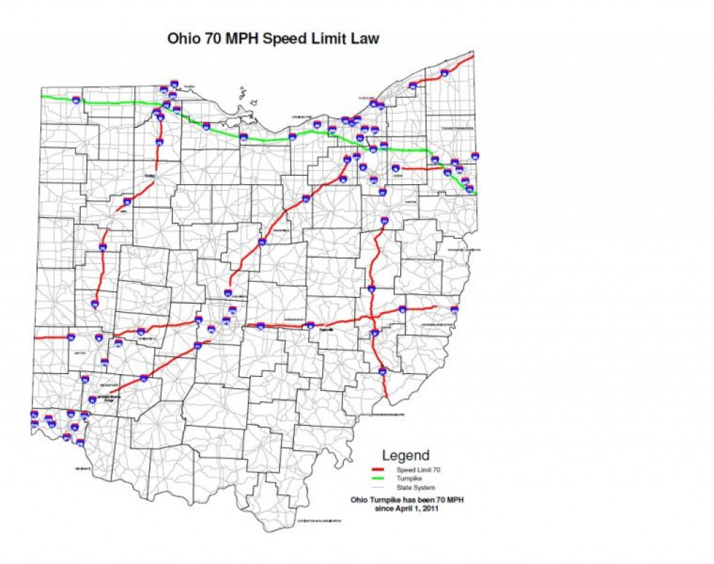 Wksu News: Speed Limit Set At 70 Mph On Some Ohio Interstates intended for Interstate Speed Limits By State Map