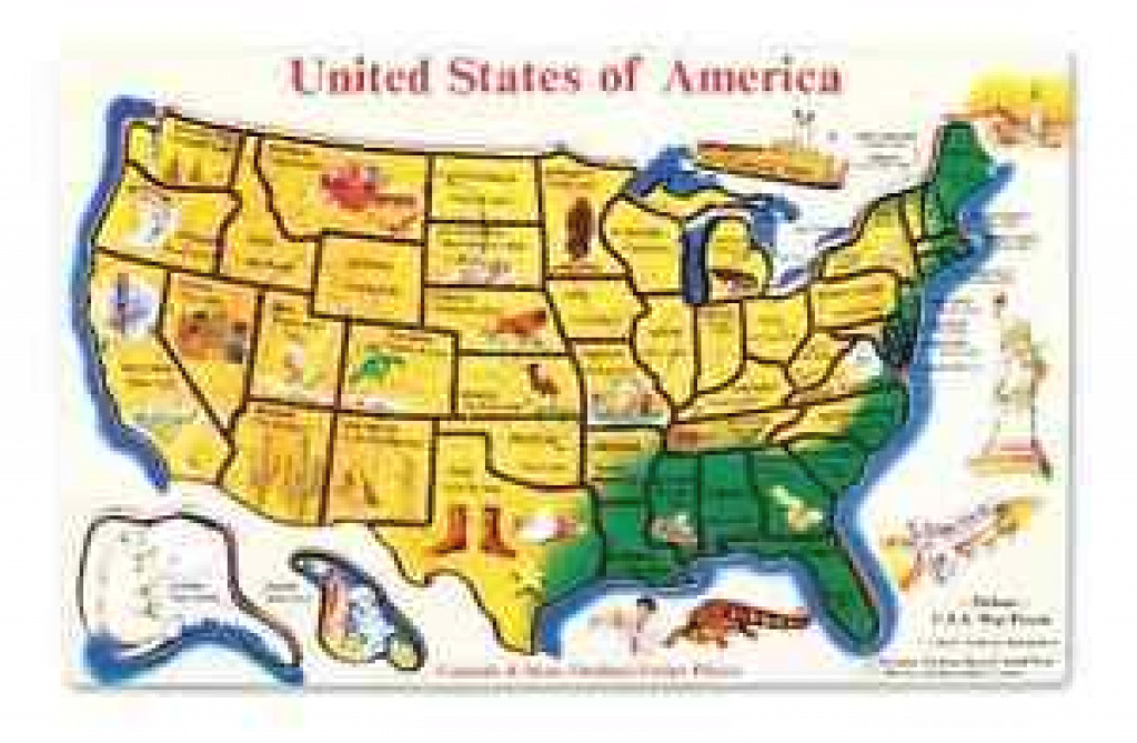 Wooden Usa Map Puzzle Learn States Capitals Geography Kid Toy 45 in United States Features Map Puzzle