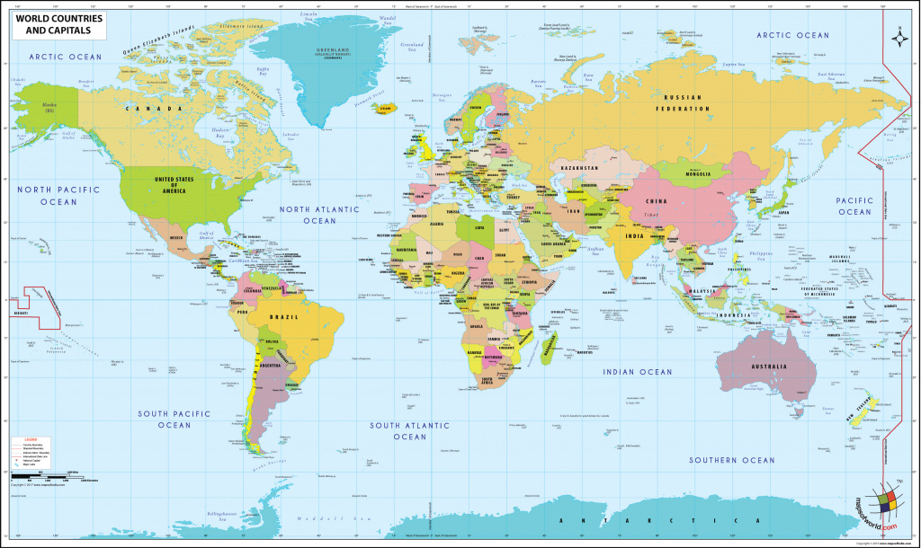 World Map With Countries | In This Site You Can Get The World Map intended for World Map With States And Capitals