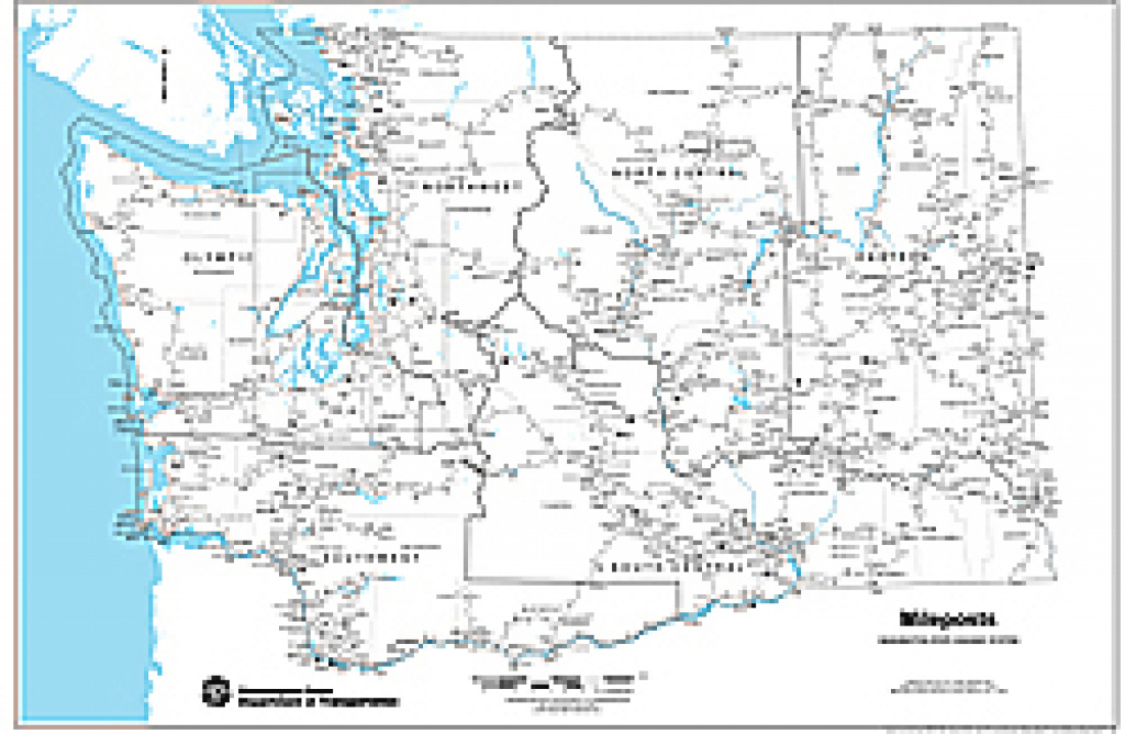 Wsdot- Digital Maps And Data for Washington State Milepost Map