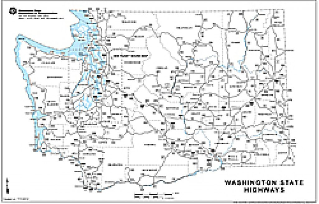 Wsdot  Digital Maps And Data In Printable Map Of Washington State