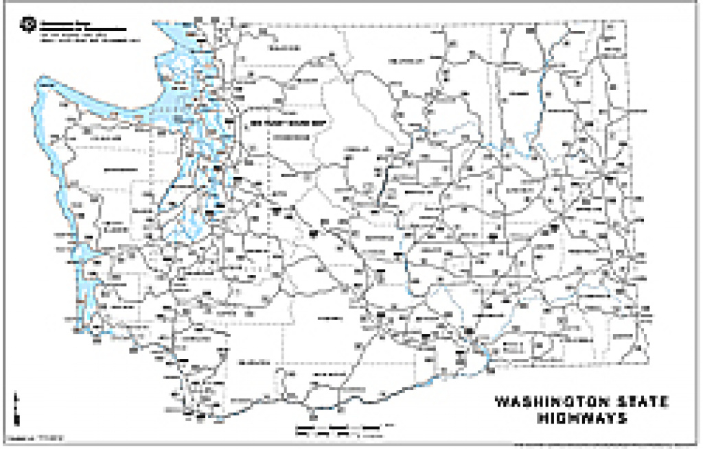 Wsdot- Digital Maps And Data in Washington State Road Map Printable
