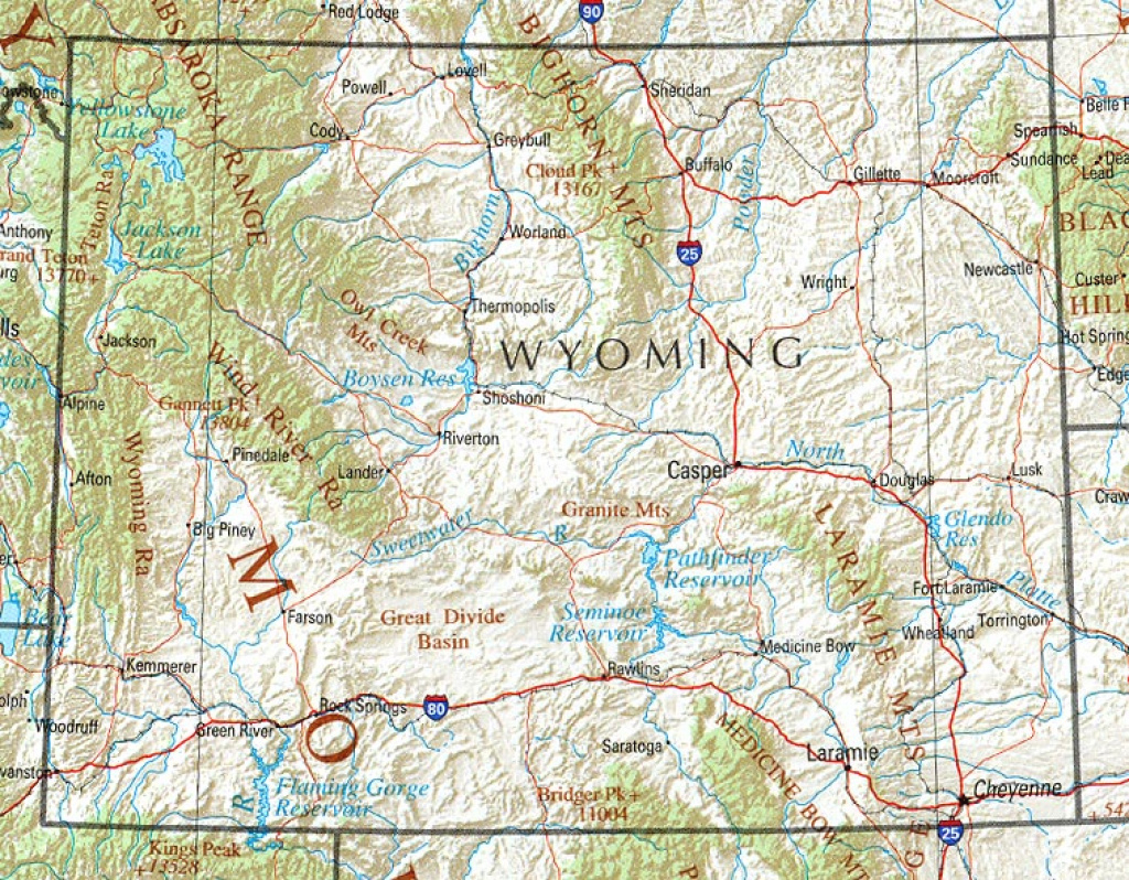 Wyoming On Map And Travel Information | Download Free Wyoming On Map for Free Wyoming State Map
