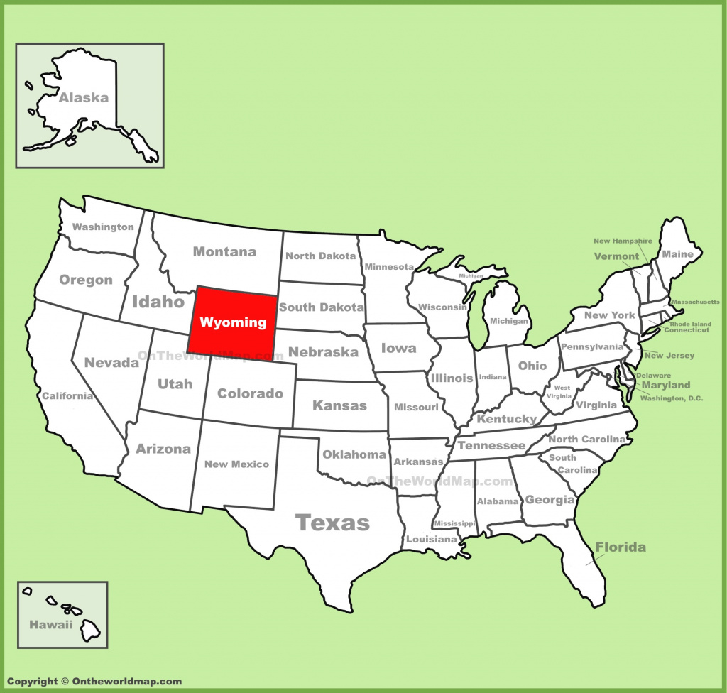 Wyoming On Map And Travel Information | Download Free Wyoming On Map pertaining to Free Wyoming State Map
