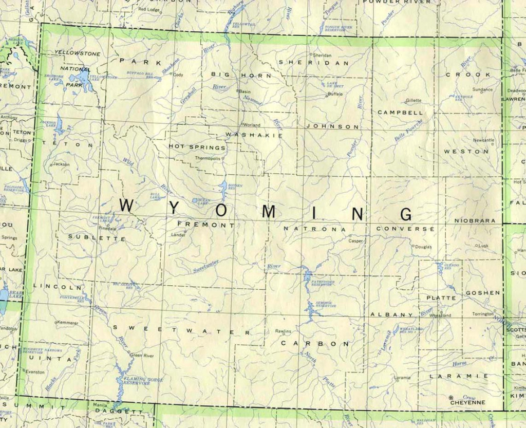 Wyoming State County Map And Travel Information | Download Free regarding Free Wyoming State Map