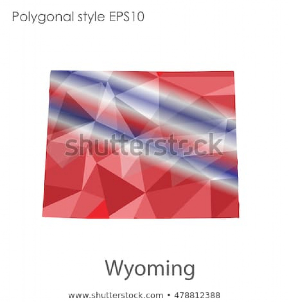 Wyoming State Map Geometric Polygonal Style Abstract Stock Vector with Free Wyoming State Map
