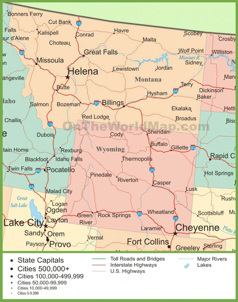 Wyoming Usa Map And Travel Information | Download Free Wyoming Usa Map throughout Free Wyoming State Map