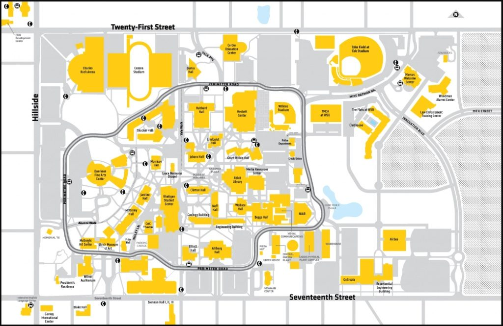 Yale Campus Map | America Map In Wichita State University Campus Map Pdf
